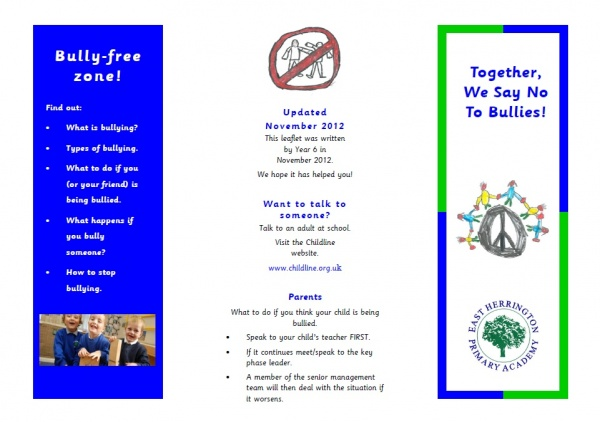 Anti bullying in action east herrington primary academy policies altavistaventures Image collections